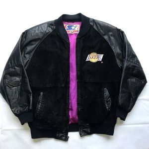 Vintage Starter Los Angeles Lakers Leather Jacket